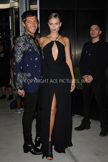 www.acepixs.com<br /> September 8, 2016  New York City<br /> <br /> Evangelo Bousis, Natasha Poly attending the The Daily Front Row's 4th Annual Fashion Media Awards at Park Hyatt New York on September 8, 2016 in New York City. <br /> <br /> <br /> Credit: Kristin Callahan/ACE Pictures<br /> <br /> <br /> Tel: 646 769 0430<br /> Email: info@acepixs.com