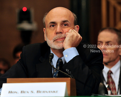 Ben Bernanke, Chairman, Board of Governors of the Federal Reserve System, testifies before the United States Senate Committee on Banking, Housing, and Urban Affairs, to present the Semiannual Monetary Policy Report to the U.S. Congress on Capitol Hill in Washington, D.C. on Thursday, July 14, 2011..Credit: Ron Sachs / CNP