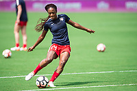 Orlando, FL - Saturday April 22, 2017: Francisca Ordega during a regular season National Women's Soccer League (NWSL) match between the Orlando Pride and the Washington Spirit at Orlando City Stadium.