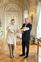Princess Charlene, Prince Albert II Of Monaco & family,  official presentation of the twins