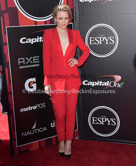 Rachel McAdams attends The 2015 ESPY Awards held at The Microsoft Theatre  in Los Angeles, California on July 15,2015                                                                               © 2015 Hollywood Press Agency
