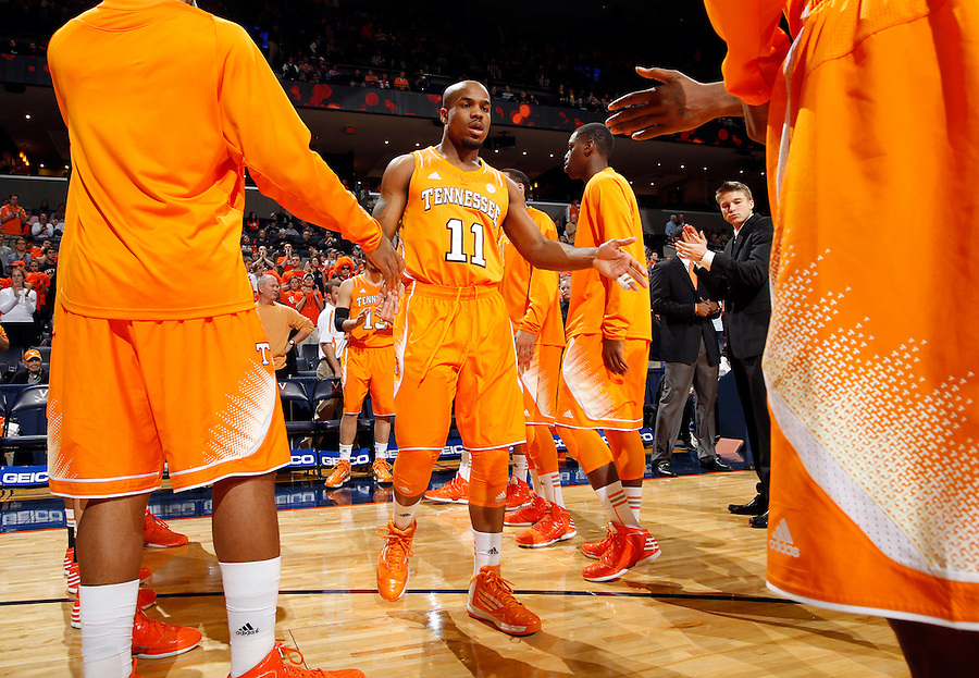Tennessee guard Trae Golden (11) during the game Wednesday in Charlottesville, VA. Virginia defeated Tennessee 46-38.