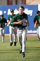 Dallas Buck of the Visalia Oaks during a California League baseball game on April 9, 2007 at Stater Bros. Stadium in Adelanto, California. (Larry Goren/Four Seam Images)