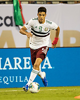 CHARLOTTE, NC - JUNE 23: Raul Jimenez #9 attacks during a game between Mexico and Martinique at Bank of America Stadium on June 23, 2019 in Charlotte, North Carolina.