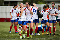 Action during National Women's Football League Final match between Canterbury United Pride and Auckland Football Federation at English Park in Christchurch, New Zealand on Sunday, 10 December 2017. Photo: Martin Hunter / lintottphoto.co.nz