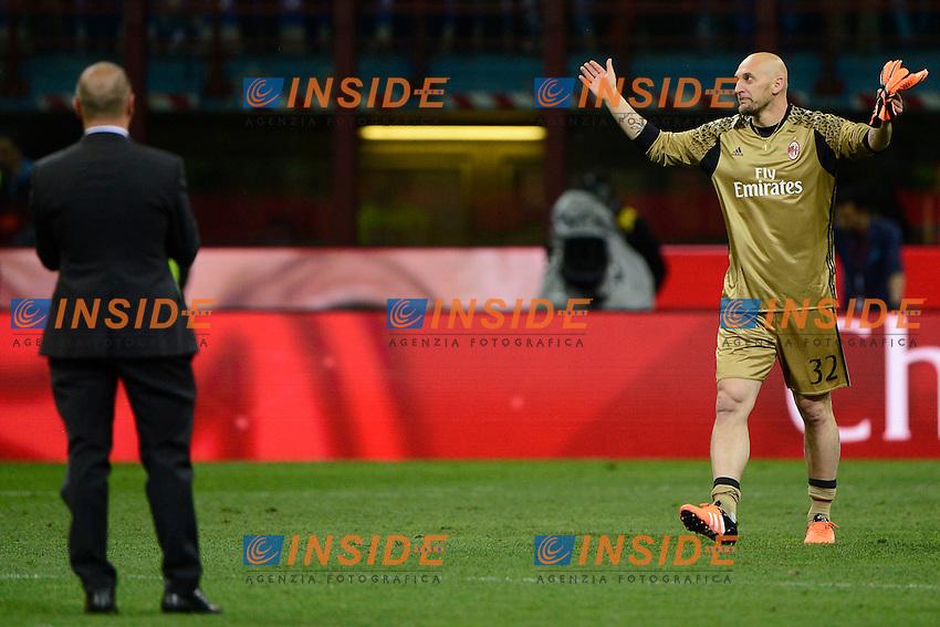 Christian Abbiati e Cristian Brocchi Milan<br /> Milano 14-05-2016 Stadio Giuseppe Meazza - Football Calcio Serie A Milan - AS Roma. Foto Giuseppe Celeste / Insidefoto