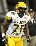 West player Trey Hopkins takes the field during the U.S. Army All-American Bowl, Saturday, Jan. 9, 2010, at the Alamodome in San Antonio. (Darren Abate/pressphotointl.com)