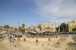 Israel, a view of East Jerusalem from Damascus gate