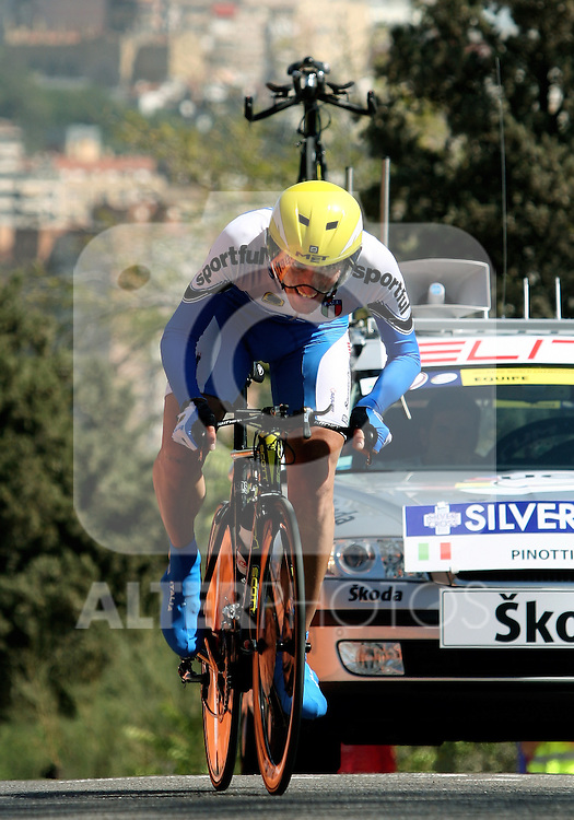 Italy's Marco Pinotti during UCI Road World Championships Time Trial in Madrid, Spain, Thursday 22 September, 2005. (Photo / Alvaro Hernandez).