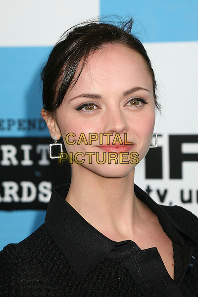 CHRISTINA RICCI.2007 Film Independent's Spirit Awards at the Santa Monica Pier, Santa Monica, California, USA,.24 February 2007..portrait headshot.CAP/ADM/BP.©Byron Purvis/AdMedia/Capital Pictures.