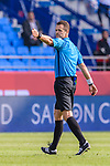 FIFA Referee Christopher Beath of Australia in action during the AFC Asian Cup UAE 2019 Group A match between Bahrain (BHR) and Thailand (THA) at Al Maktoum Stadium on 10 January 2019 in Dubai, United Arab Emirates. Photo by Marcio Rodrigo Machado / Power Sport Images