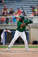 Beloit Snappers right fielder Logan Farrar (11) at bat during a game against the Dayton Dragons on July 22, 2018 at Pohlman Field in Beloit, Wisconsin.  Dayton defeated Beloit 2-1.  (Mike Janes/Four Seam Images)