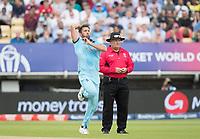 Liam Plunkett (England) in action during Australia vs England, ICC World Cup Semi-Final Cricket at Edgbaston Stadium on 11th July 2019