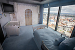 © Joel Goodman - 07973 332324 . 24 June 2013 . Orchid Suite , Beetham Tower , Manchester , UK . Boy's bedroom . Former triplex apartment home of Phil and Julie Neville , which is up for rent and thought to be the most expensive in Manchester . Photo credit : Joel Goodman
