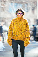 Giovanna Battaglia attends Day 7 of New York Fashion Week on Feb 18, 2015 (Photo by Hunter Abrams/Guest of a Guest)