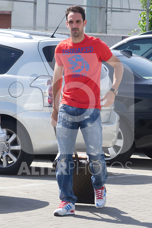 01.06.2012. Arrival of the players in the Spanish football team squad for the European Championship in Poland and Ukraine to the Ciudad del Futbol of Las Rozas, Madrid. In the image Juan Francisco Torres (Alterphotos/Marta Gonzalez)