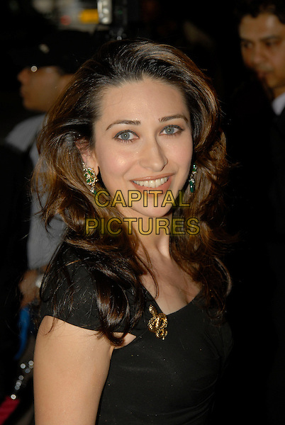 KARISMA KAPOOR.The Zee Cine Awards, Excel Centre, London, England..April 26th 2008.headshot portrait gold brooch black.CAP/IA.©Ian Allis/Capital Pictures.