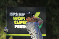 Danny Willett (ENG) in action on the 11th during Round 2 of the ISPS Handa World Super 6 Perth at Lake Karrinyup Country Club on the Friday 9th February 2018.<br /> Picture:  Thos Caffrey / www.golffile.ie<br /> <br /> All photo usage must carry mandatory copyright credit (&copy; Golffile | Thos Caffrey)
