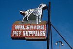 Wilshire Pet Supplies sign, Santa Monica, CA Sept. 1988