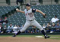 June 1, 2004:  Pitcher Brian Schmack of the Toledo Mudhens during a game at Frontier Field in Rochester, NY.  The Mudhens are the Triple-A International League affiliate of the Detroit Tigers.  Photo By Mike Janes/Four Seam Images