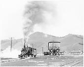 D&amp;RGW #268 running light eastbound in Sargent yard.<br /> D&amp;RGW  Sargent, CO  Taken by Krause, John - 5/21/1955