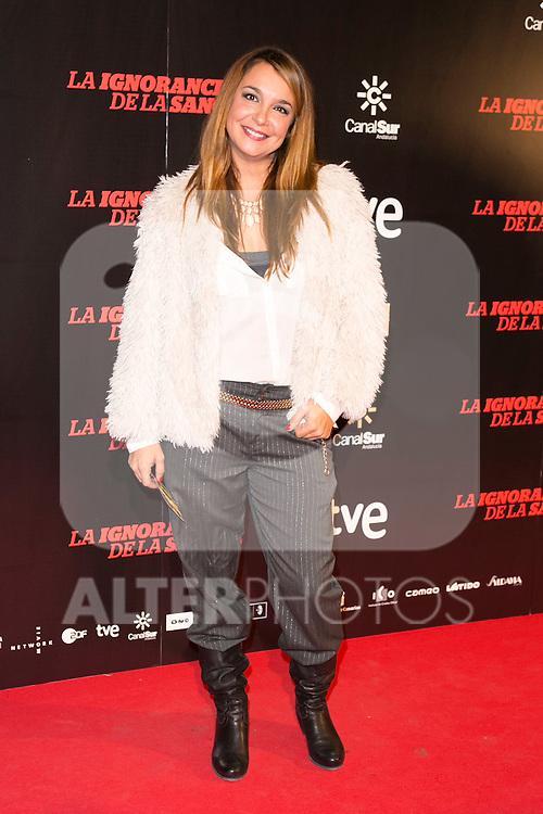 """attends """"La Ignorancia de la Sangre"""" Premiere at Capitol Cinema in Madrid, Spain. November 13, 2014. (ALTERPHOTOS/Carlos Dafonte)"""
