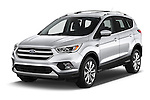 2017 Ford Escape Titanium 5 Door Suv Angular Front stock photos of front three quarter view