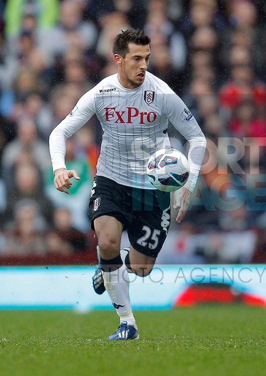 Stanislav Manolev of Fulham - Aston Villa vs Fulham - Barclays Premiership  - Villa Park Birmingham -  Season 12/13 - 13/4/13.Photograph Malcolm Couzens/Sportimage