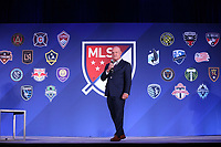 Philadelphia, PA - Thursday January 18, 2018: President and Managing Director, MLS Business Ventures Gary R. Stevenson. The 2018 MLS League Meetings were held at the Philadelphia Marriott Downtown.