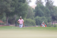 Adrian Otaegui (ESP) on the 15th green during the 3rd round of the DP World Tour Championship, Jumeirah Golf Estates, Dubai, United Arab Emirates. 17/11/2018<br /> Picture: Golffile | Fran Caffrey<br /> <br /> <br /> All photo usage must carry mandatory copyright credit (&copy; Golffile | Fran Caffrey)