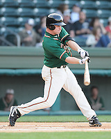 April 20, 2009: Infielder Paul Gran (15) of the Greensboro Grasshoppers, Class A affiliate of the Florida Marlins, in a game against the Greenville Drive at Fluor Field at the West End in Greenville, S.C. Photo by: Tom Priddy/Four Seam Images