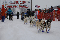 Ilsa Schwarzburg of Wasilla leaves the start line of the 2009 Junior Iditarod on Knik Lake on Saturday Februrary 28, 2009.