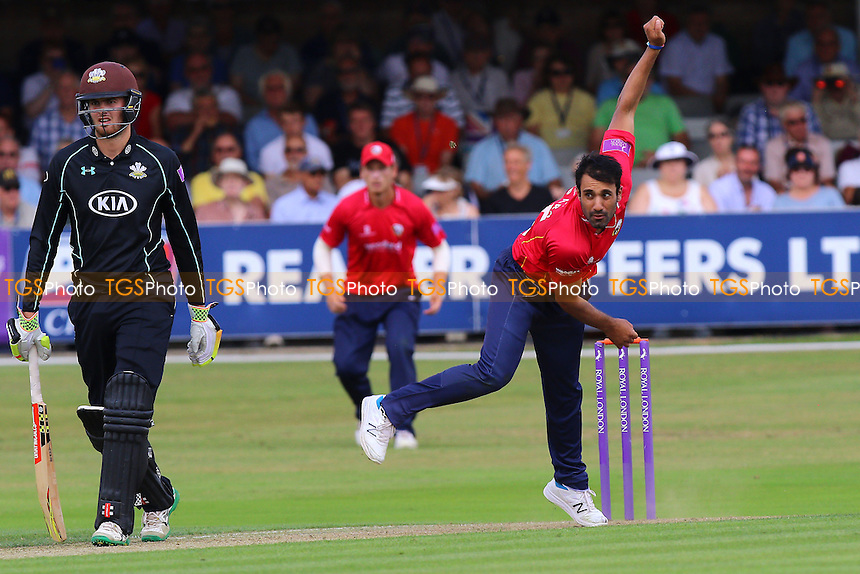 Ravi Bopara in bowling action for Essex during Essex Eagles vs Surrey, Royal London One-Day Cup Cricket at the Essex County Ground on 24th July 2016