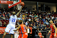 GRONINGEN - Basketbal, Donar New Heroes Den Bosch, kwartfinale NBB beker, seizoen 2018-2019, 14-01-2019, score van Donar speler LaRon Dendy