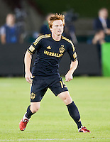 LOS ANGELES, CA – July 16, 2011: Dan Keat (15) of the LA Galaxy during the match between LA Galaxy and Real Madrid at the Los Angeles Memorial Coliseum in Los Angeles, California. Final score Real Madrid 4, LA Galaxy 1.