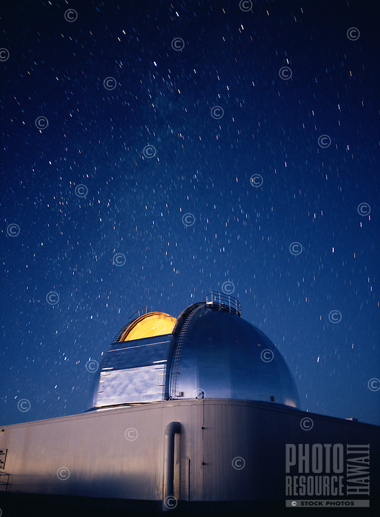 NASA Infrared Telescope Facility in twilight, Mauna Kea Observatory, Hawaii