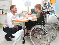 Prince Harry Duke Of Sussex During a Visit to Sheffield Childrens Hospital