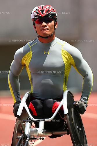 Masayuki Higuchi,<br /> JULY 18, 2015 - Athletics :<br /> Japan Para Athletics Championships,<br /> Men's T54 5000m Final<br /> at Yanmar Stadium Nagai, Osaka, Japan. <br /> (Photo by Shingo Ito/AFLO SPORT)