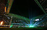General view of the light show before kick off - RBS 6Nations 2015 - Wales  vs England - Millennium Stadium - Cardiff - Wales - 6th February 2015 - Picture Simon Bellis/Sportimage