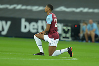 Sebastien Haller of West Ham United Black Lives mater  during West Ham United vs Charlton Athletic, Caraboa Cup Football at The London Stadium on 15th September 2020