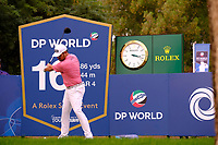 Louis Oosthuizen (RSA) on the 16th tee during the 1st round of the DP World Tour Championship, Jumeirah Golf Estates, Dubai, United Arab Emirates. 21/11/2019<br /> Picture: Golffile | Fran Caffrey<br /> <br /> <br /> All photo usage must carry mandatory copyright credit (© Golffile | Fran Caffrey)