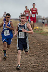Runners compete in the boys 2A/1A 5k during the Northern Nevada Regional Cross Country meet at Shadow Mountain Park on Friday, October 28, 2016.