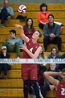STANFORD, CA - December 30, 2017: Eric Beatty at Burnham Pavilion. The Stanford Cardinal defeated the Calgary Dinos 3-1.