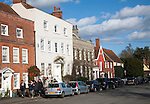 Historic buildings in the main street of Dedham, Essex, England