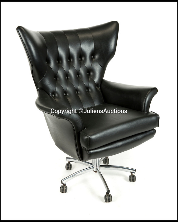 BNPS.co.uk (01202 558833)<br /> Pic: JuliensAuctions/BNPS<br /> <br /> ***Please Use Full Byline***<br /> <br /> The chair used by evil Bloefeld in the James Bond film You Only Live Twice. <br /> <br /> Est: &pound;2000<br /> <br /> The iconic micro-jet flown by Roger Moore in Octopussy and the swivel chair used by super-villain Blofeld are among a host of props from James Bond movies coming up for sale.<br /> <br /> The 12ft long BD-5J red, white and blue aircraft, that is the world's lightest jet, was piloted by 007 in the opening scenes of Octopussy, outwitting his Cuban captors.<br /> <br /> The aircraft was actually built seven years before the film as part of an air display team and was hired for the 1983 Bond flick.