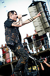Matt Walst of Three Days Grace performs during the 2013 Rock On The Range festival at Columbus Crew Stadium in Columbus, Ohio.