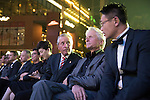 Gary Player, Michael Douglas and Ken Chu during the Opening Ceremony of the the World Celebrity Pro-Am 2016 Mission Hills China Golf Tournament on 20 October 2016, in Haikou, China. Photo by Weixiang Lim / Power Sport Images