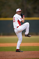 Illinois State Redbirds relief pitcher Jack Czeszewski (25) delivers a pitch during a game against the Michigan State Spartans on March 8, 2016 at North Charlotte Regional Park in Port Charlotte, Florida.  Michigan State defeated Illinois State 15-0.  (Mike Janes/Four Seam Images)