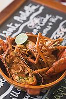 """France/DOM/Martinique/Grand-Rivière :  La Marmite du pécheur ,langouste , écrevisses  , Crabe et   Poisson Recette d' Arlette  du Restaurant """"Chez Tante Arlette"""""""