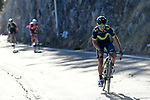 Nairo Quintana (COL) Movistar Team attacks near the end of Stage 4 of the 2017 Tirreno Adriatico running 187km from Montalto di Castro to Terminillo, Italy. 11th March 2017.<br /> Picture: La Presse/Fabio Ferrari  | Cyclefile<br /> <br /> <br /> All photos usage must carry mandatory copyright credit (&copy; Cyclefile | La Presse)